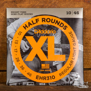 D'Addario Half Rounds - Semi-Flat Wound Electric Guitar Strings (10-46)