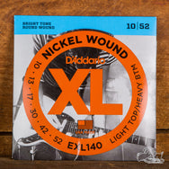 D'Addario XL Electric Guitar Strings Light Top, Heavy Bottom 10