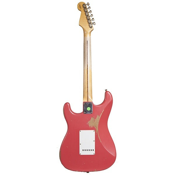2014 Fender '57 Stratocaster Journeyman Relic, Faded Fiesta Red - Garrett Park Guitars  - 6