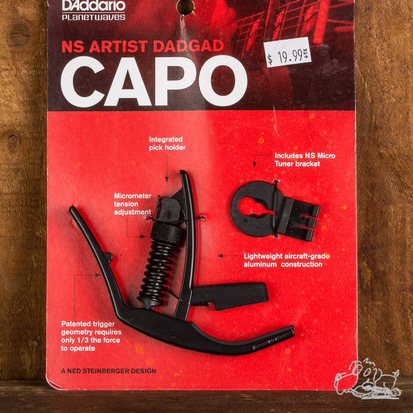 D'Addario Planet Waves NS Artist Capo - DADGAD Tuning