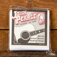 "John Pearse 13-56 ""New Standard"" Bronze Wound 80/20 Acoustic Guitar Strings"