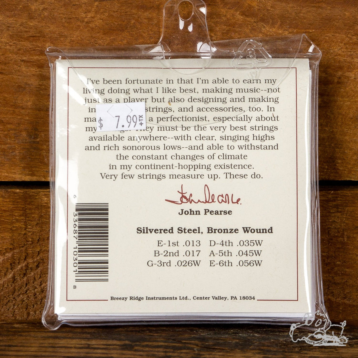 John Pearse 13-56 Bronze Wound 80/20 Acoustic Guitar Strings