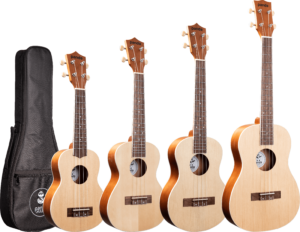 Spruce Top Panda Ukulele - Choose From Soprano/Concert/Tenor