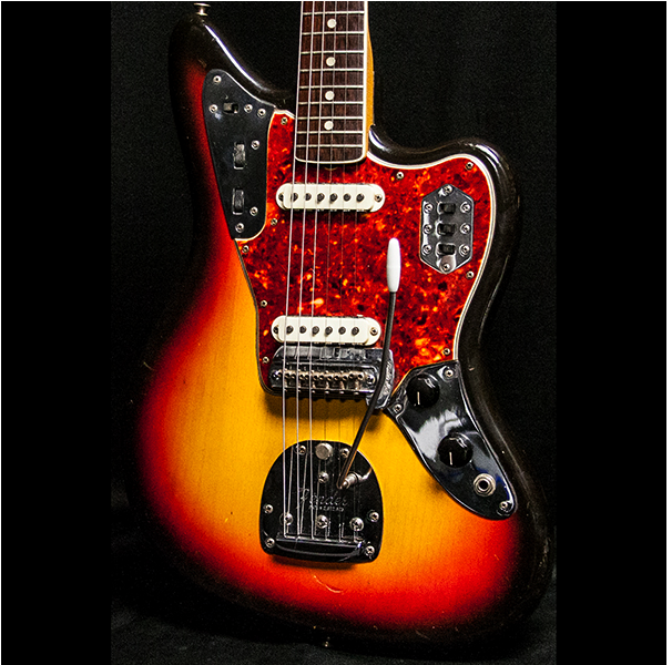 1965 FENDER JAGUAR SUNBURST - Garrett Park Guitars  - 2