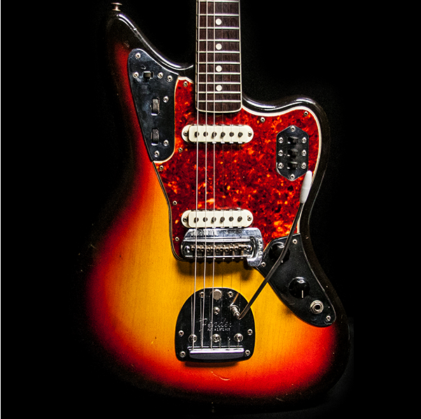 1965 FENDER JAGUAR SUNBURST - Garrett Park Guitars  - 1