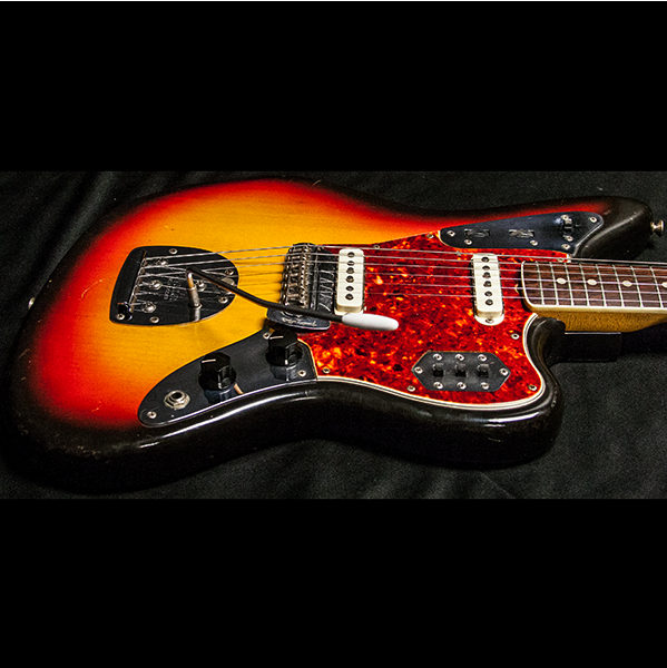 1965 FENDER JAGUAR SUNBURST - Garrett Park Guitars  - 8