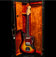 1965 FENDER JAGUAR SUNBURST - Garrett Park Guitars  - 10