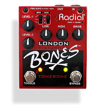 RADIAL TAILBONE BONES LONDON DUAL DISTORTION PEDAL - Garrett Park Guitars