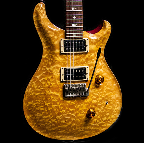 1989 PRS CUSTOM VINTAGE YELLOW QUILT 10 TOP BIRDS - Garrett Park Guitars  - 1