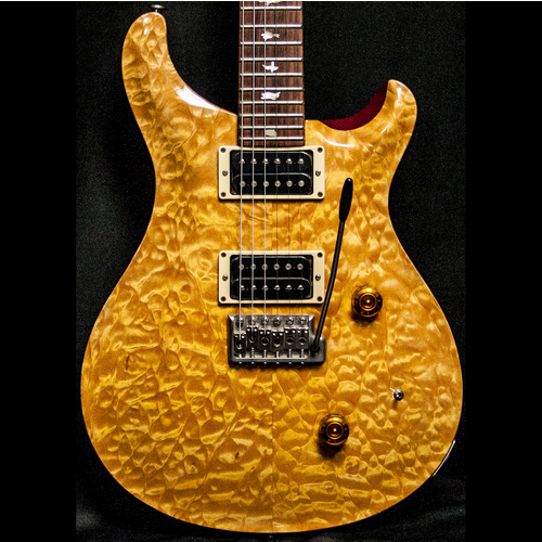 1989 PRS CUSTOM VINTAGE YELLOW QUILT 10 TOP BIRDS - Garrett Park Guitars  - 2