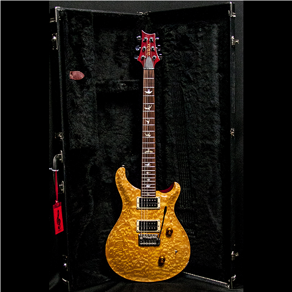 1989 PRS CUSTOM VINTAGE YELLOW QUILT 10 TOP BIRDS - Garrett Park Guitars  - 3