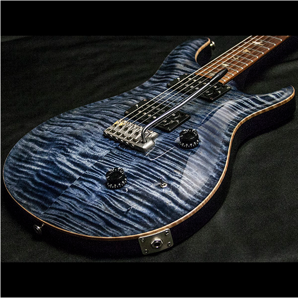1988 PRS CUSTOM 10 TOP WHALE BLUE - Garrett Park Guitars  - 12