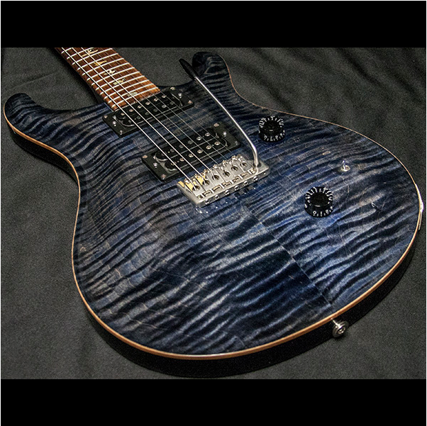 1988 PRS CUSTOM 10 TOP WHALE BLUE - Garrett Park Guitars  - 16