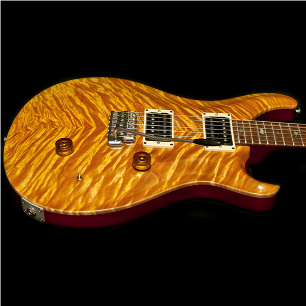 1988 PRS CUSTOM VINTAGE YELLOW BIRDS 10 TOP - Garrett Park Guitars  - 9