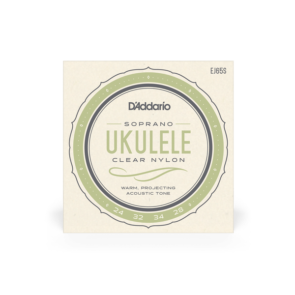 D'addario Soprano Clear Nylon Ukulele Strings