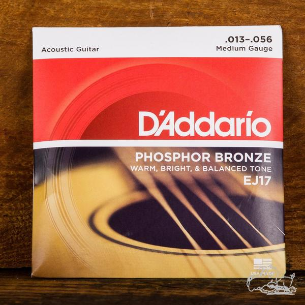 D'Addario 13-56 Phosphor Bronze Acoustic Guitar Strings - EJ17