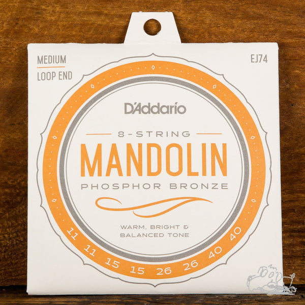 D'Addario Mandolin Strings Loop End Phosphor Bronze Medium 11-40