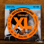 D'Addario XL Electric Guitar Strings Nickel Wound Light 10-46
