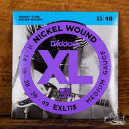 D'Addario XL Electric Guitar Strings Nickel Wound Medium 11-49