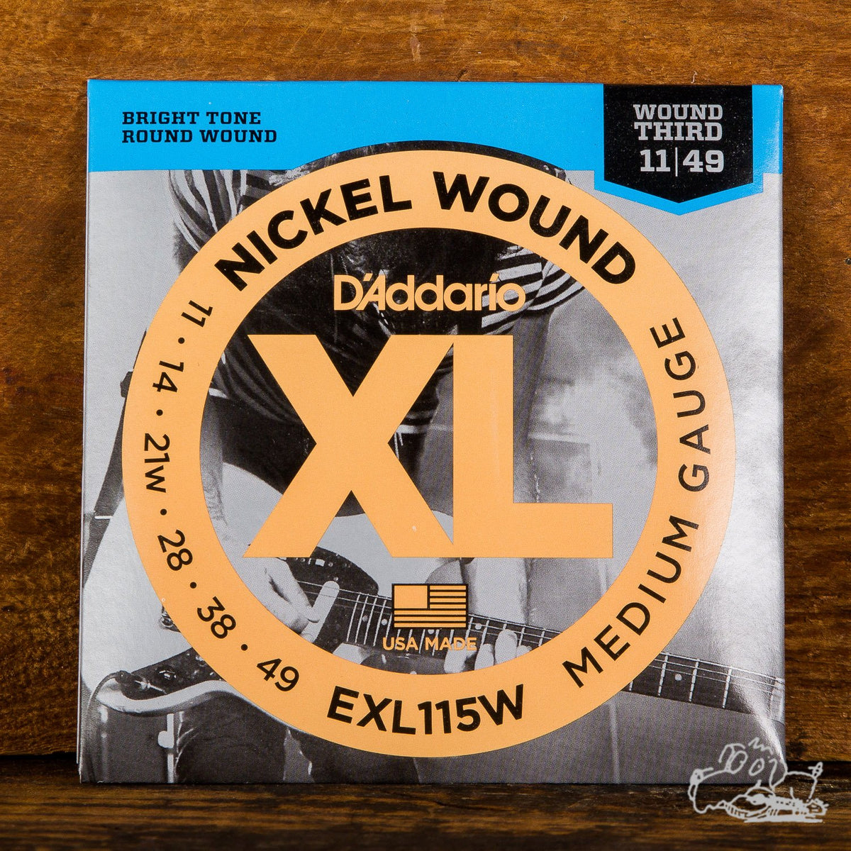 D'Addario XL Electric Guitar Strings Wound 3rd Blues/Jazz/Rock Medium 11-49