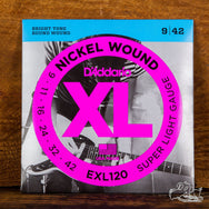 D'Addario XL Electric Guitar Strings Nickel Wound Super Light 9-42