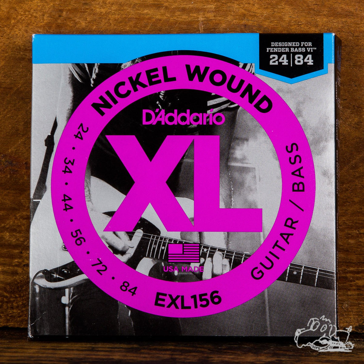 D'Addario XL Electric Bass VI Guitar Strings 24-84