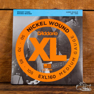 D'Addario XL Electric Bass Strings - Nickel Wound - Long Scale 50-105