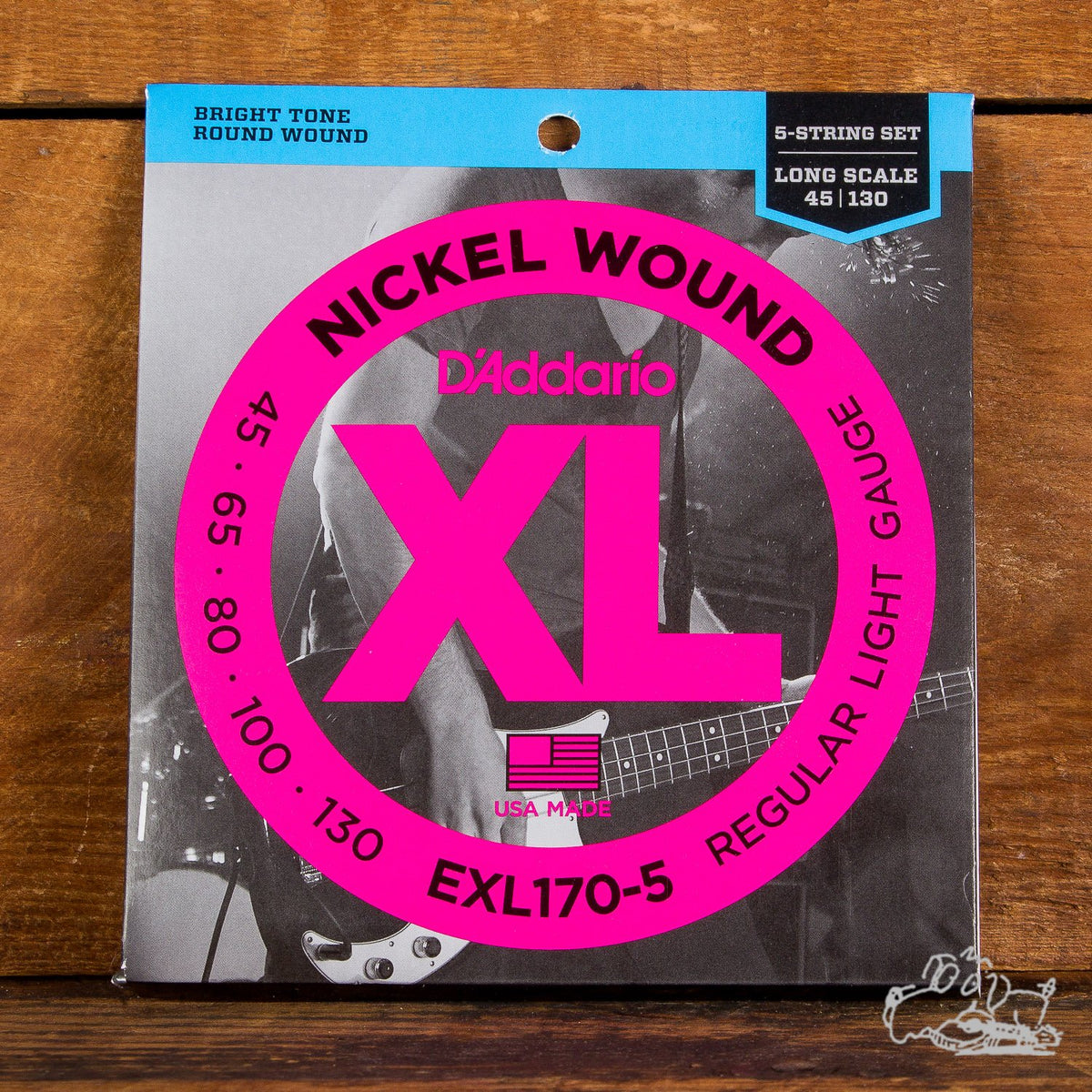 D'Addario XL Electric Bass Strings - Nickel Wound - Long Scale 40-95