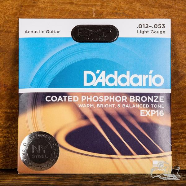 D'Addario 12-53 Phosphor Bronze Acoustic Guitar Strings - EXP16