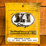 S.I.T. Golden Bronze 80/20 Acoustic Guitar Strings