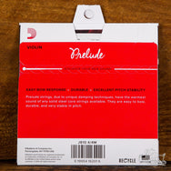 D'Addario Prelude Violin Strings 4/4 Scale Length Solid Steel Core