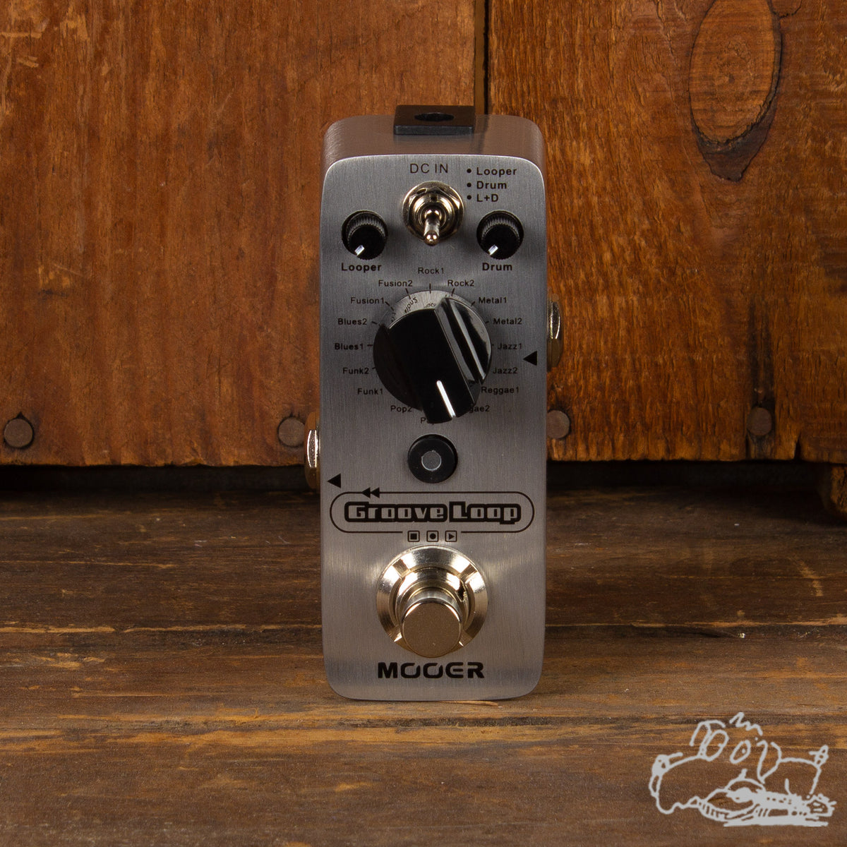 Mooer Groove Loop Drum Machine & Looper True Bypass Pedal
