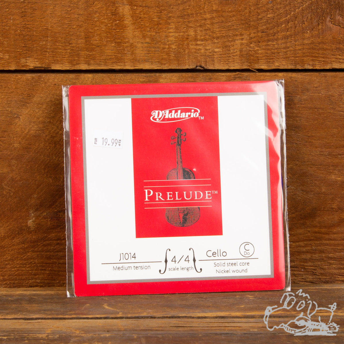 Prelude Cello Strings, 4/4 Scale, Medium Tension (Individual Strings C, G, D, A)