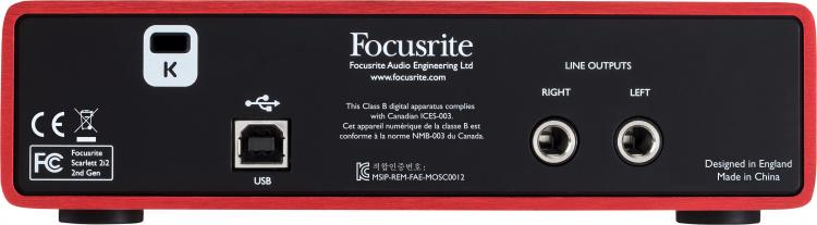Focusrite Scarlett 2i2 USB Recording Interface