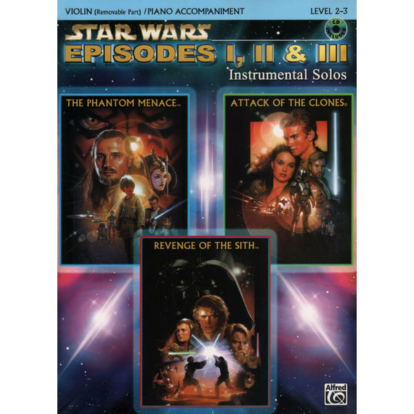 Alfred STAR WARS espidoes I, II, III Easy Piano Book