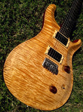 1986 PRS Custom, Vintage Yellow with Birds, 6 0869, 10 top! - Garrett Park Guitars  - 12