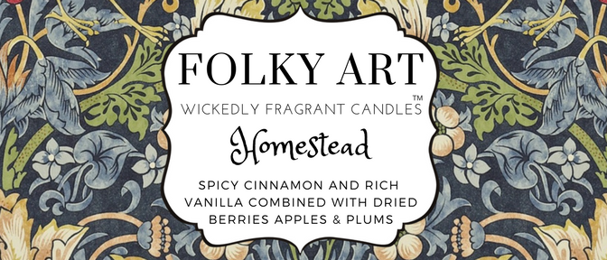 Homestead Jar Candle label - Folky Art Candles