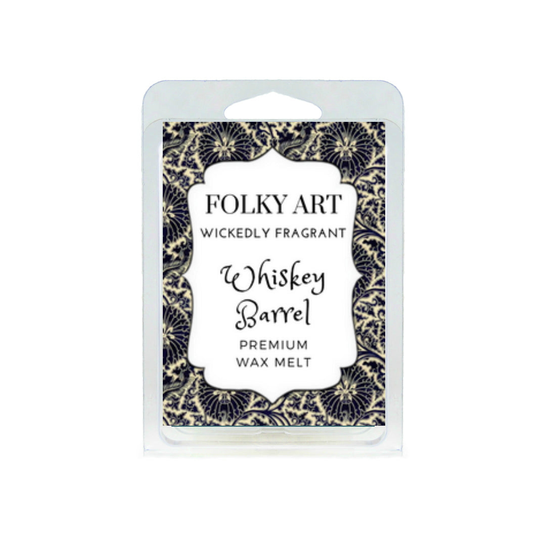 Whiskey Barrel Wax Melt Folky Art Candles