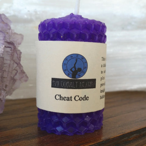 Cheat Code Mini Candle - Nui Cobalt Designs