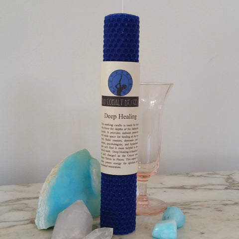 Deep Healing Enchanted Candle - Nui Cobalt Designs