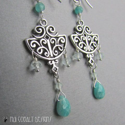 Dew Drop Fairy Earrings - Nui Cobalt Designs - 4