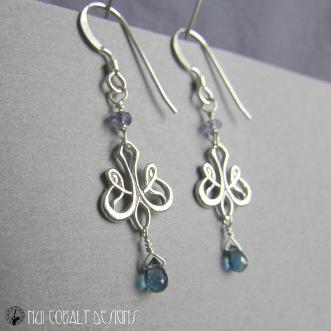 A Dream in Winter Earrings - Nui Cobalt Designs - 1