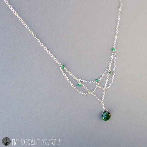 Green Tara's Necklace - Nui Cobalt Designs - 1