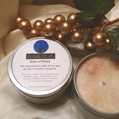 Horn of Plenty Enchanted Soy Candle - Nui Cobalt Designs