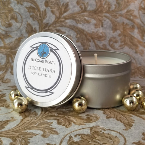 Icicle Tiara Soy Candle