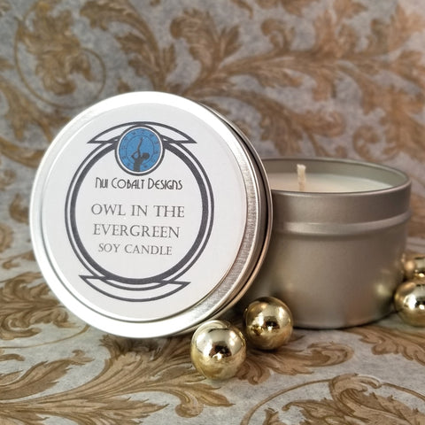 Owl in the Evergreen Soy Candle