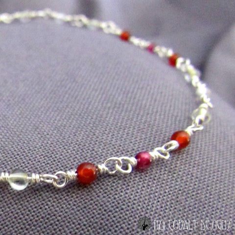 Magic Garnet Bracelet by Nui Cobalt Designs