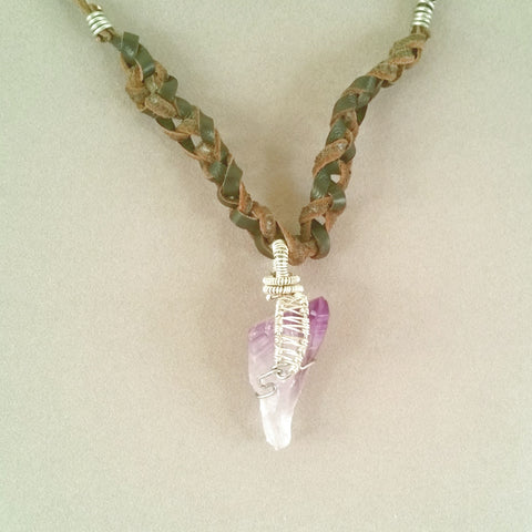 Natural Amethyst Point Necklace