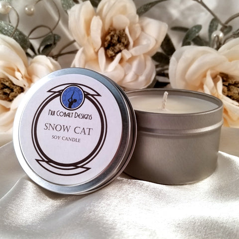 Snow Cat Soy Candle