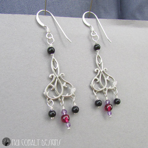 The Spider's Stratagem Earrings - Nui Cobalt Designs - 1